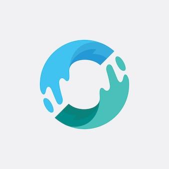 Sea and river logo design