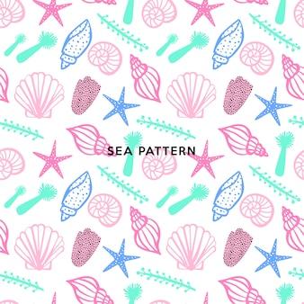 海のシームレスパターン