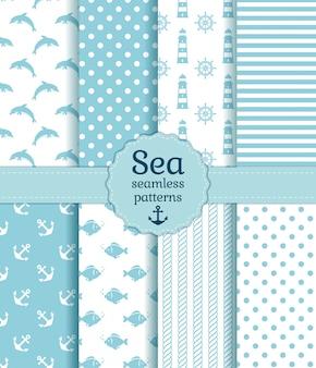 Sea seamless patterns.