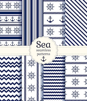 Sea seamless patterns.