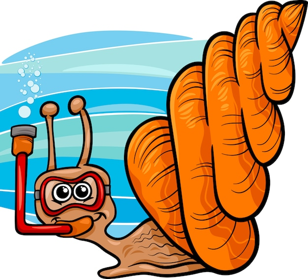 Иллюстрация морской мультфильм улитки