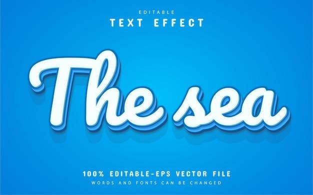 Редактируемый текстовый эффект моря