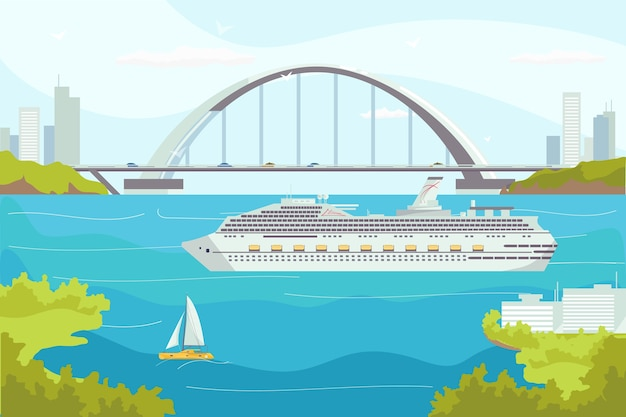 Sea transport illustration
