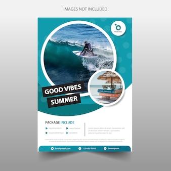 Sea travel tour flyer template