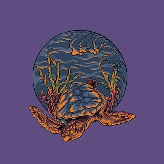 Иллюстрация морской черепахи
