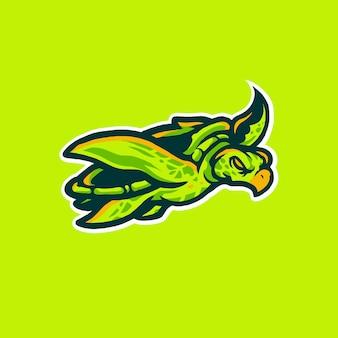 ウミガメスポーツロゴイラスト