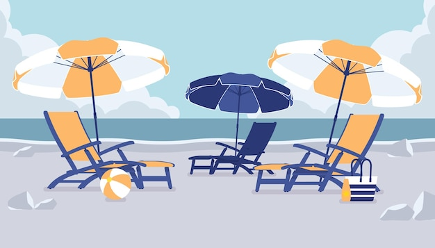 Шезлонги для отдыха на море