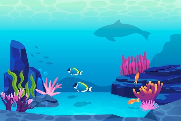 Carta da parati sotto il mare