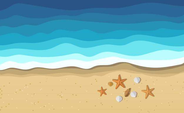 Sea water waves on beach