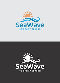 Sea wave logo design