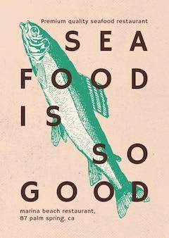 Плакат с морепродуктами