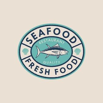Seafood badge logo