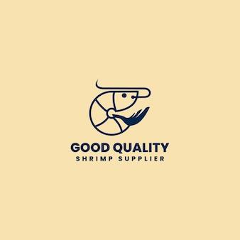 Кафе морепродуктов или ресторан абстрактный векторный знак, креветка поставщика. символ или шаблон логотипа.