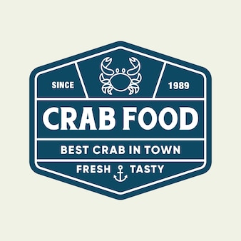 Seafood crab for restaurant line logo design