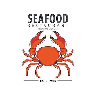 Seafood design badge