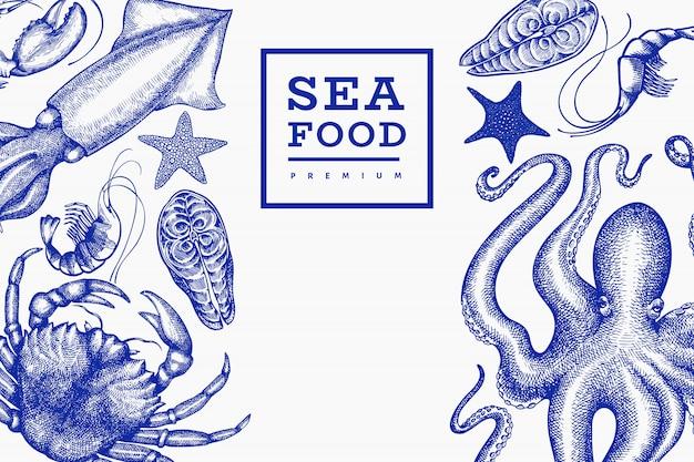 Seafood design template.