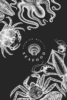 Seafood design template.