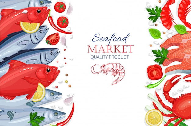 Seafood. healthy food cooking concept.