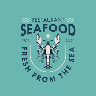 Seafood logo Premium Vector