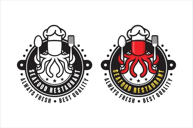 シーフードレストランは常に新鮮なデザインのロゴ
