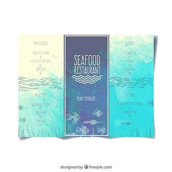 Меню ресторана seafood