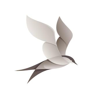 Чайка птица. дизайн животных