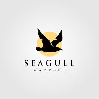 Чайка логотип дизайн иллюстрации