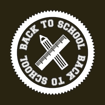 Seal back to school over brown background