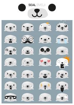 Seal emoji icons