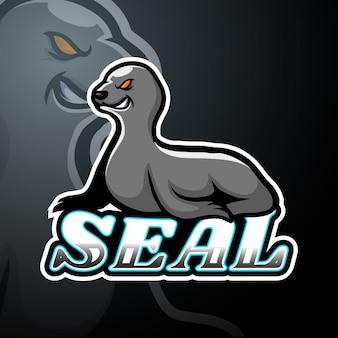 Seal esport логотип талисман дизайн