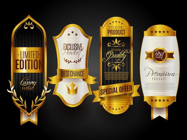 Sigillo di qualità premium distintivi d'oro
