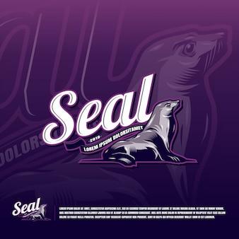 Seal sport team logo template