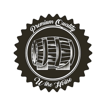 Seal stamp with barrel icon