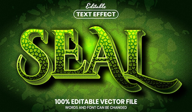 Seal text, editable text effect