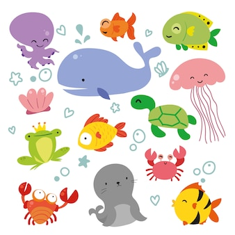 Sealife animals collection