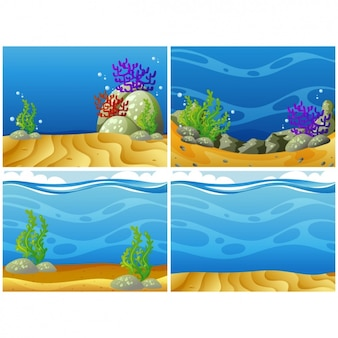 Sealife backgrounds collection