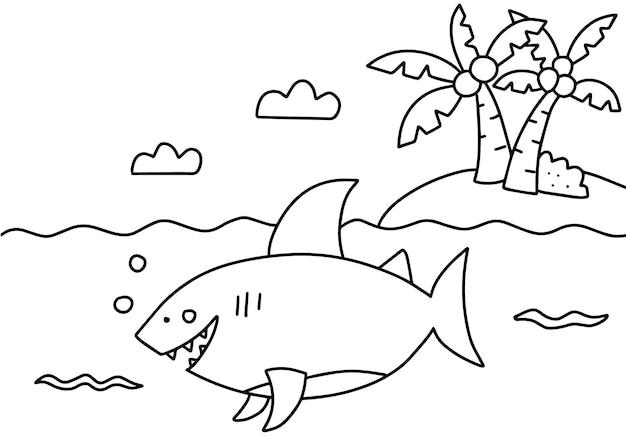 Морская жизнь, раскраска для детей