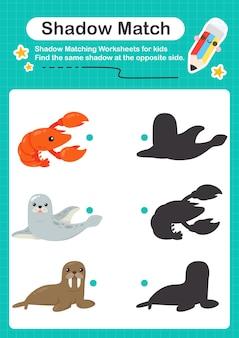 Морская игра с тенями sealife для детей дошкольного возраста