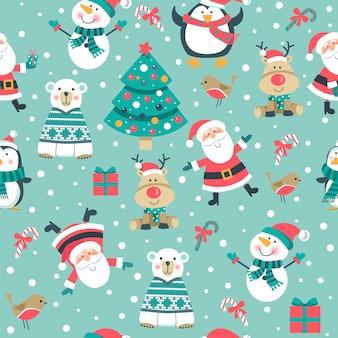 Seamlee рождественский рисунок.