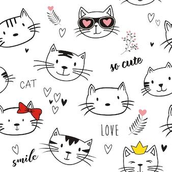 Seamlees of cat