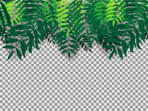 Seamles background with tropical trees