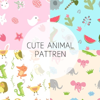 Seamles cute animal pattren
