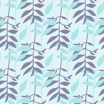 Seamles minimalistic floral pattern with foliage ornament.