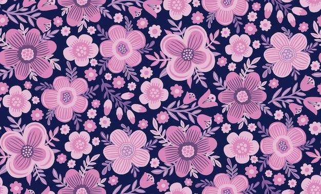 Эксперты шаблон цветок рисованной печать текстиль старинный цветочный дизайн