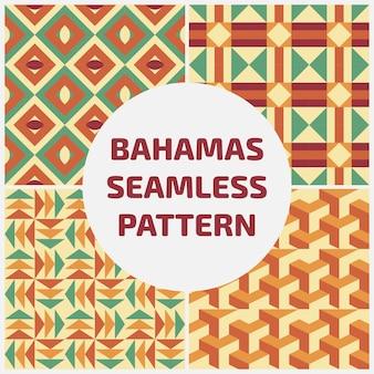 バハマseamlesパターン背景セット