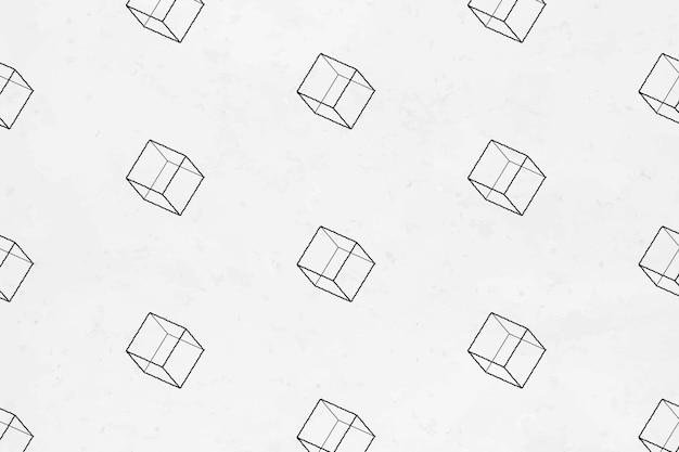 シームレスな3d幾何学的な立方体パターンの背景