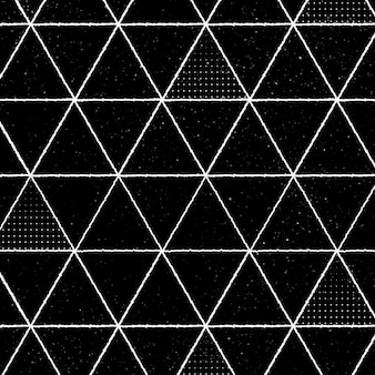 黒の背景にシームレスな3d三角形のパターン