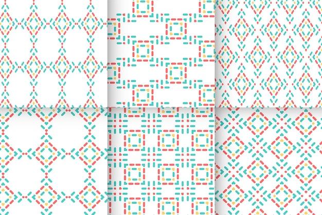 ラインアートスタイルのシームレスな抽象的なドットラインパターン