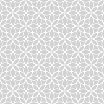 오리엔탈 스타일에서 원활한 추상 꽃 패턴