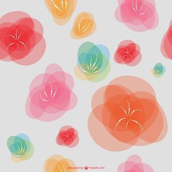 Бесшовные абстрактные цветочные